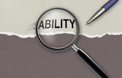 changing the word disability  for ability - stock illustration