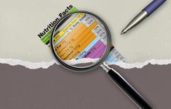 nutrition facts - stock illustration
