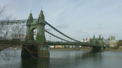 Hammersmith Bridge wide shot Stock Footage