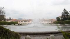 Villa este,  Varese, Italy. the Estense gardens Stock Footage