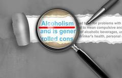 Alcoholism Stock Illustration