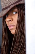 Stock Photo of young woman with African braids