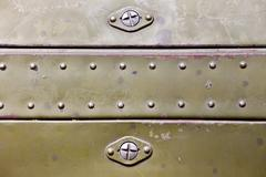 Metal surface with rivets Stock Photos