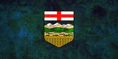 Flag of Alberta Stock Illustration