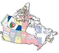 Stock Illustration of northwest territories on map of canada