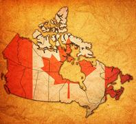 Stock Illustration of administration map of canada