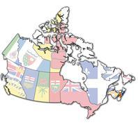 Nova scotia on map of canada Stock Illustration