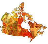 prince edward island on map of canada - stock illustration