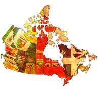 Administration map of canada Stock Illustration