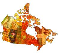 Alberta on map of canada Stock Illustration