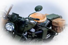 Retro motorcycle 40s Stock Photos