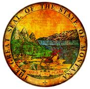 Montana coat of arms Stock Illustration