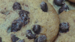 Cookies, Chocolate Chips, Snacks Stock Footage