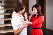 Stock Photo of violence in relationship