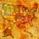 Stock Illustration of alabama on map of usa