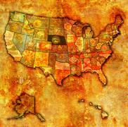 nebraska on map of usa - stock illustration