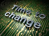 Stock Illustration of Time concept: Time to Change on circuit board background