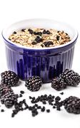 wholegrain muesli breakfast - stock photo