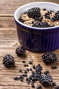 wholegrain muesli breakfast - stock photo