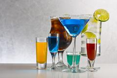 Cocktails with alcohol Stock Photos