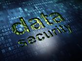 Stock Illustration of Protection concept: Data Security on digital screen background
