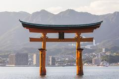 Stock Photo of itsukushima shrine famous place at miyajima. hiroshima. japan