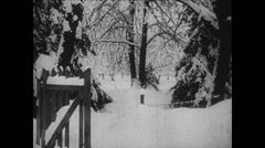 1919 - 1938 Lenin 09 - House And Garden - In Winter Stock Footage