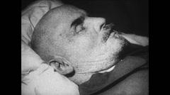 1919-1938 Lenin 10 1924 Dead Lenin and funeral - 01 Stock Footage