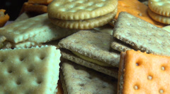 Crackers, Crisps, Snacks, Food Stock Footage