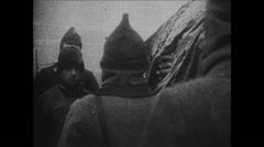 1919-1938 Lenin 10 1924 Dead Lenin 07 Public procession with coffin Stock Footage