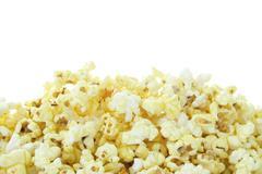 Pop corn eristetty valkoisella pohjalla Kuvituskuvat