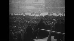 1919 - 1938 Lenin 10 1924 Dead Lenin 07 Crowds, Coffin, details and city parts Stock Footage