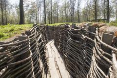Ww1 trench in bayernwald world war one belgium Stock Photos