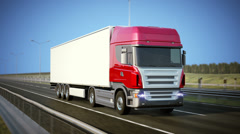 Logistics - Trucking Stock Footage