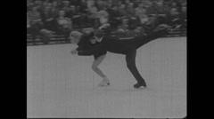 Cold War 1968 Moskau Civilian 08 Ice Dancing Stock Footage