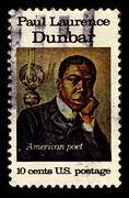 usa-circa 1975:a stamp printed in usa shows image of paul laurence dunbar was - stock photo