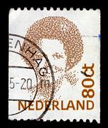 Netherlands-circa 1991:a stamp printed in netherlands shows image of beatrix  Stock Photos
