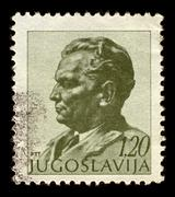 Yugoslavia-circa 1972:a stamp printed in yugoslavia shows image of josip broz Stock Photos