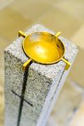 holy water stoup in the church - stock photo