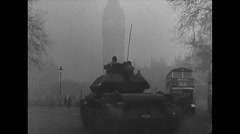 WW2 Allies Civil 04 Mixed Clips, Tanks, Soldiers, Monuments, Coast, Sports Stock Footage