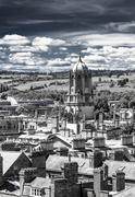 Aerial view of roofs and spires of oxford Stock Photos
