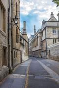 Beautiful old street in oxford, england Stock Photos