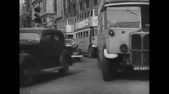WW2 British Civil Life 01 Everyday Life in a british city 02 Stock Footage