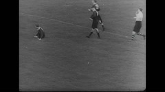 WW2 British Civil Life 02 Sports, Audience, Football Game, HorseRace 01 Stock Footage