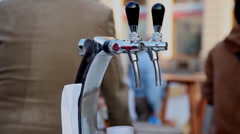 Beer festival, draft beer, outdoors, drinking alcohol Stock Footage