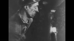 WW2 British Civil Life 06 Industrial workers with details Stock Footage