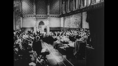 WW2 British Civil Life 07 House of Parliament Stock Footage