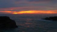 Stock Video Footage of Sunset / Sunrise over ocean.