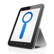 Data concept: Search on tablet pc computer Stock Illustration