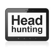 Finance concept: Head Hunting on tablet pc computer Stock Illustration